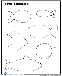 Small Fish Template Empty Fish Bowl Coloring Page 28 Easy Shapes For My Rainbow Fish