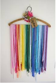 Just One Tip: Using clothing hangers for craft storage