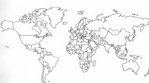 Stunning Blank World Map Pdf Hd Worksheet Download Continents And