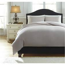 queen duvet cover set q734023q ashley furniture bergden light gray bedding comforter