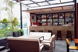 rooftop lighting. kitchen design rooftop with mini bar wooden furniture natural lighting interesting also t