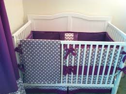 ideas purple crib bedding sets