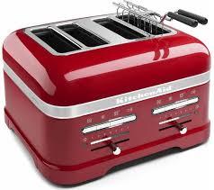 kitchenaid artisan 5kmt4205bca 4 slice toaster red free delivery currys artisan toaster slice
