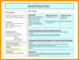 5 year career plan example personal career development plan growth template for highschool