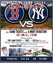 RAFFLE - Red Sox vs. NY Yankees tickets ...