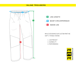 Trousers Sizing Guide Rhino Sports