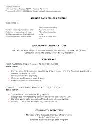Resume Examples For Bank Teller Sample Resumes Livecareer Skills Of