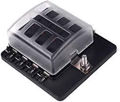 amazon com fuse boxes fuses & accessories automotive fuse box card processing 8 way fuse block quick terminal joyho fuse box atc ato with led
