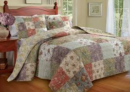 greenland home blooming prairie queen 3 piece bedspread set