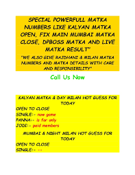 Guess Today What Is Mumbai Matka Number