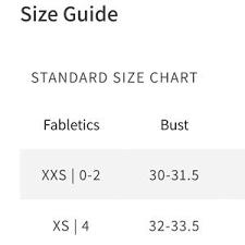 Fabletics Size Chart Fabletics Vasha Midi Sports Bra