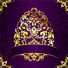 Purple Background Designs Golden Easter Pattern And Purple Background Vector Free