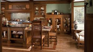 craftsman style kitchen by wood mode large
