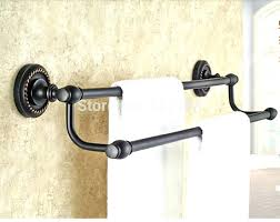 bronze towel bar. Charming Towel Rack Bronze New Dual Bar Oil Rubbed Bathroom .