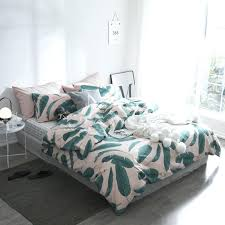 banana leaf duvet cover pink and green banana leaves bedding set plants print cotton twin queen size duvet cover flat sheet pillowcases bedclothes in