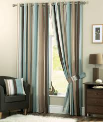 Striped Bedroom Curtains Blue Striped Curtains