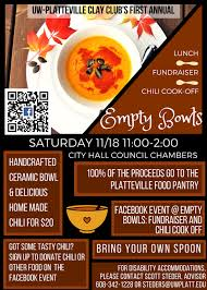 chili supper flyer empty bowls fundraiser and chili cook off university of wisconsin