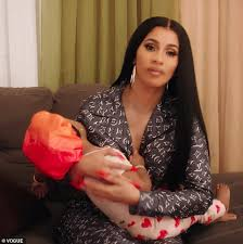 Cardi B Is A Loving Mother As She Cradles Kulture While