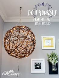 Do it yourself Grapevine ball light fixture I'm a sucker for anything  rustic looking