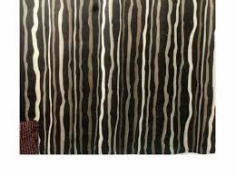 art shower curtain brown
