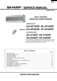 sharp ae a24 (serv man12) service manual view online or download Trane HVAC Wiring Diagrams ae a24 (serv man12) sharp air conditioner service manual (repair manual)