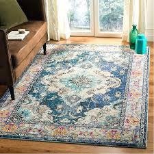 power loom navy blue area rug teal rugs wallner bungalow rose