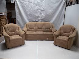 Kabs Polstergarnitur 2 Sitzer Sofa Mit 2 Sesseln
