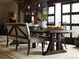hooker furniture dining. Hooker Furniture Roslyn County Upholstered Dining Bench 1618-75019-DKW