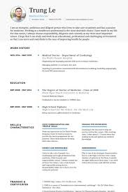 Sample Doctor Resume Doctor Resume Sample Medical Example Disenosyparasolestropicales Co