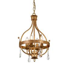 windsor 4 light ceiling chandelier in rich patina gold finish with cut glass crystal decorations