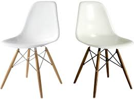eames dsw chair fiberglass platinum replica white and off white white and off white