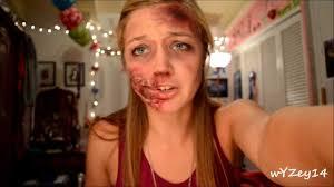 easy makeup tutorial toilet paper glue by yali zada 2016 06 zombie