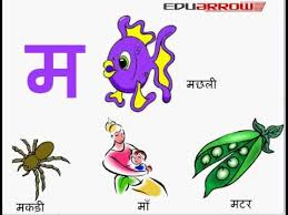 म ma hindi letter ma letter words