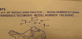 Sears Craftsman Lt Tractor Transaxle Engine Owner Parts