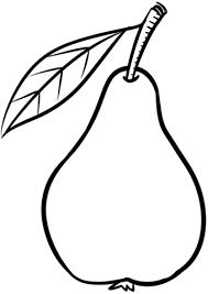 Dibujo De Una Pera Con Hojas Para Colorear Dibujos Para