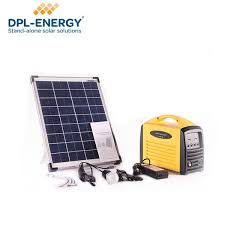 portable solar battery power bank charger led light mini outdoor off grid system 12v with