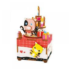 <b>Деревянный конструктор ROBOTIME</b> Музыкальная шкатулка ...
