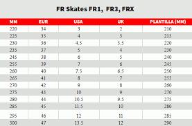 Fila Skates Size Chart Fr Saktes Size Chart