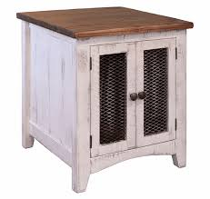 white wash end table white end table