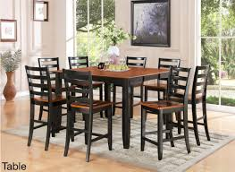 Minimalist Dining Room Design 9 Piece Tall Square Kitchen Table Set 8  Counter Height Matching Stools