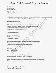 Personal Trainer Resume No Experience Cover Letter Personal Trainers Resume Beginner Trainerle Template No 18