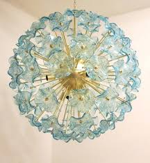 italian glass chandeliers beautiful glass aquamarine flowers chandelier modern italian glass chandeliers