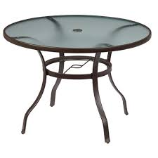 round outdoor table. Unique Round Hampton Bay Mix And Match Round Metal Outdoor Dining Table For