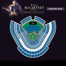 Dodger Stadium Seating Chart With Rows Paul Mccartney Tickets Dodger Stadium Freshen Up Tour