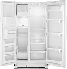 whirlpool side by side refrigerator white. whirlpool wrs325fdaw - white interior view side by refrigerator