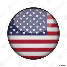 United states of america Flag in glossy round button of - stock vector |  Crushpixel