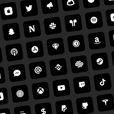 black and white app icons for iphone