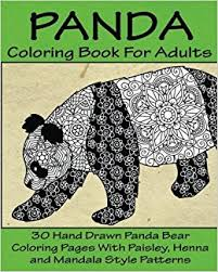 Small Picture Panda Coloring Book For Adults 30 Hand Drawn Panda Bear Coloring