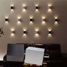 wall art lighting ideas. 3w led square wall lamp hall porch walkway bedroom livingroom home fixture light art lighting ideas t