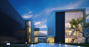 modern office building. Modern Glass Office Building 3d Model